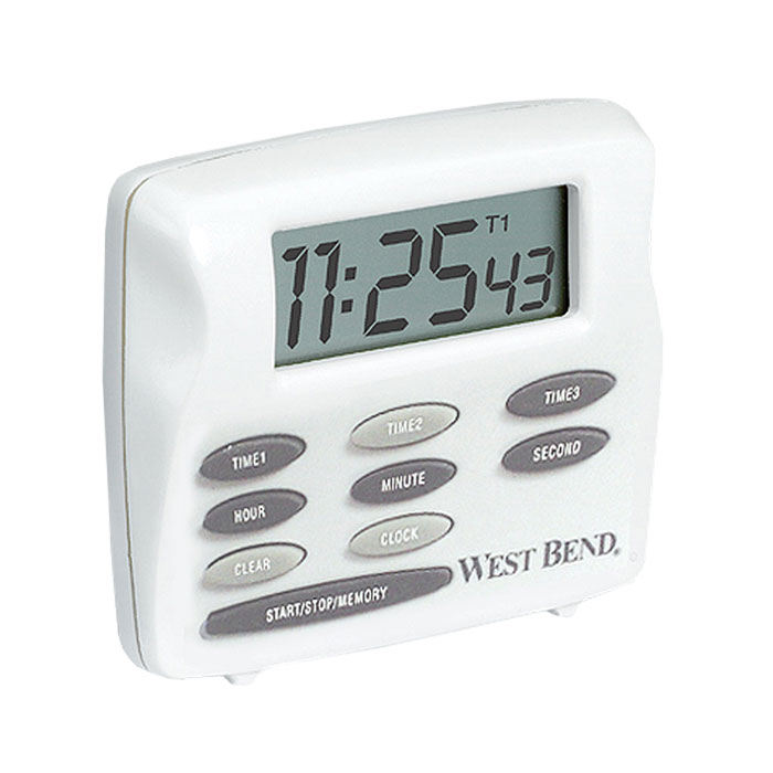 Focus 40053 Triple Alert Timer, With Clock, LCD Display