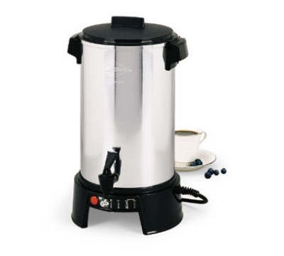 Focus 58016V 36 Cup Aluminum West Bend Coffee Maker, 220-240V