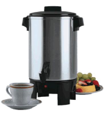 Focus 58230R Aluminum Coffeemaker w/ 3 Prong Plug - 30 Cup