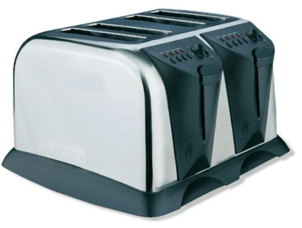 Focus 78004 Light Duty 4-Slice Toaster w/ 1.25-in Slots, 1500-watts, 120 V