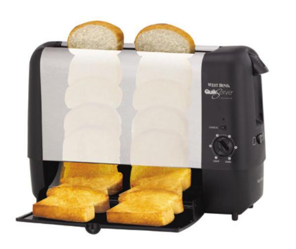 Focus 78222 Vertical Toaster w/ 2-Slice Tray & Bagel Function, 120 V