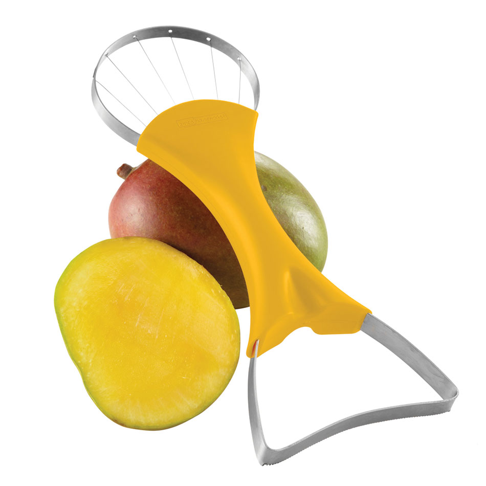 Focus 8908 2-in 1-Mango Slicer & Pitter w/ Yellow Handle