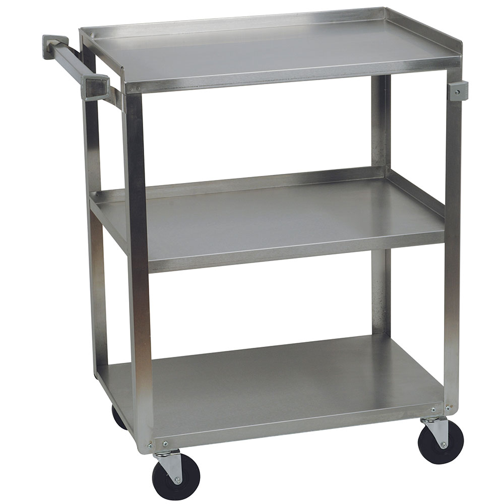 Focus 90444 Stainless Steel Cart, (3) 21 in D x 35 in W Shelves, 500 lb. Capacity