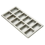 Focus 905755 Mini-Loaf Pan, Holds 3-7/8 in x 2-1/2 in Mini Loaves