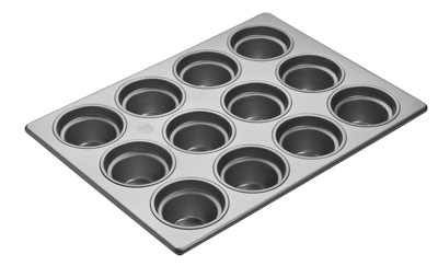 Focus 904555 Large Crown Muffin Pan Holds (20) 3-1/2-in Muffins, Glazed Aluminum