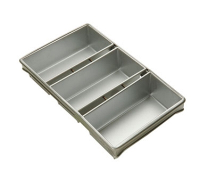 Focus 904235 Three Pan Strapped Bread Pan Set, Glazed Aluminum