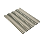 Focus 906005 Six Pocket Baguette/French Bread Pan, Perforated Glazed Aluminum