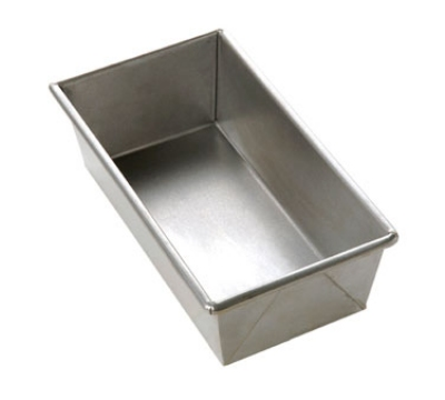 Focus 977042 1-lb Bread Pan, 8-1/2 x 4-1/2 x 2-3/4-in, Aluminized