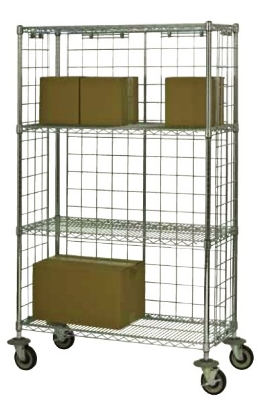 Focus FEMK186069CH Enclosure Panel Cart w/ Casters, (4) 18 x 60-in Shelves, NSF