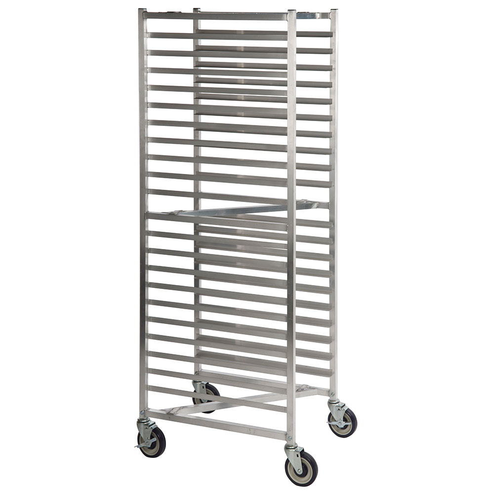 "Focus FAZNBR20 Z-Style Heavy Duty Nesting Pan Rack - 70""H, 20 Pan Capacity, 3"" Slide Spacing, Aluminum"