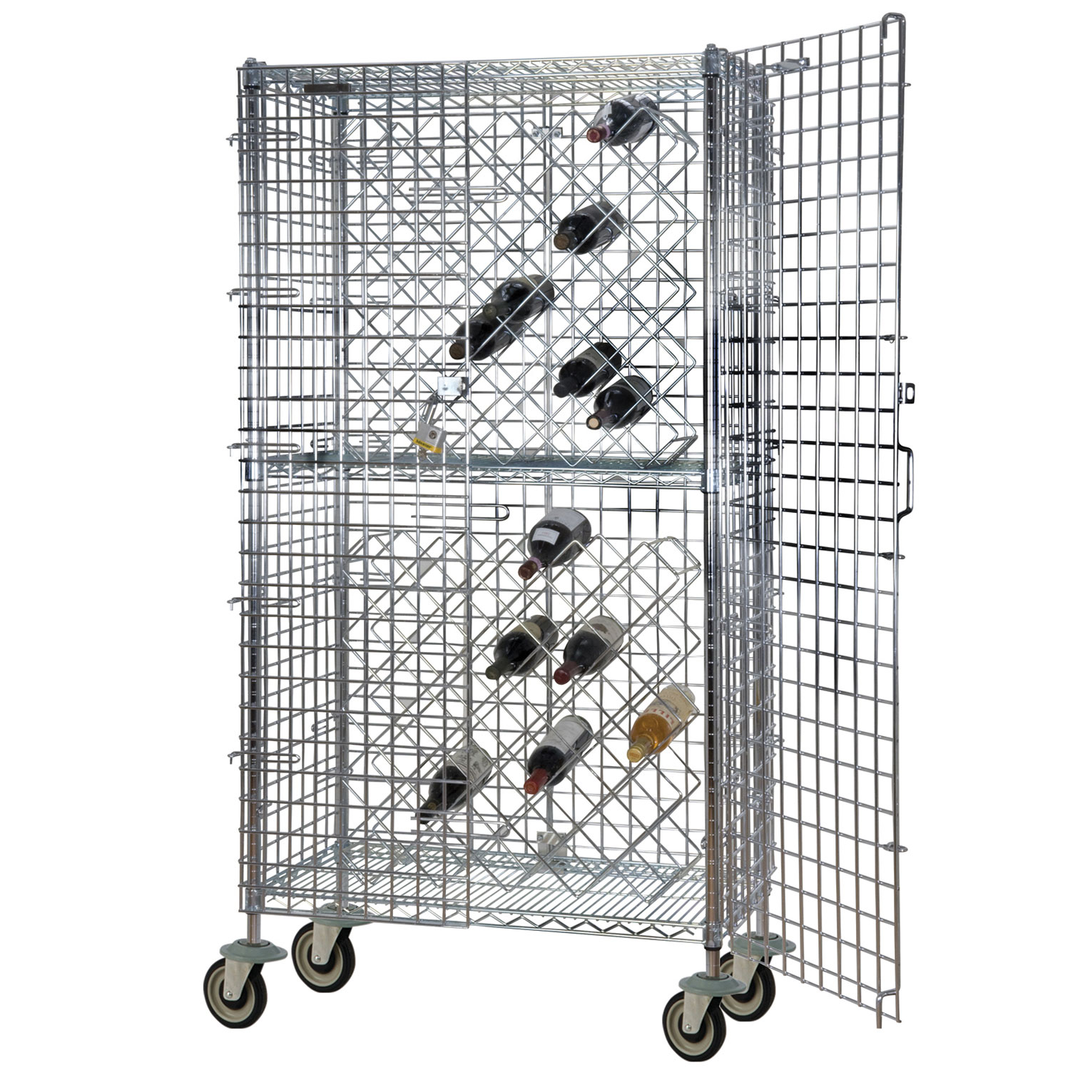 Focus FDWR82CH Display Wine Rack Includes (2) Wine Bottle Ra