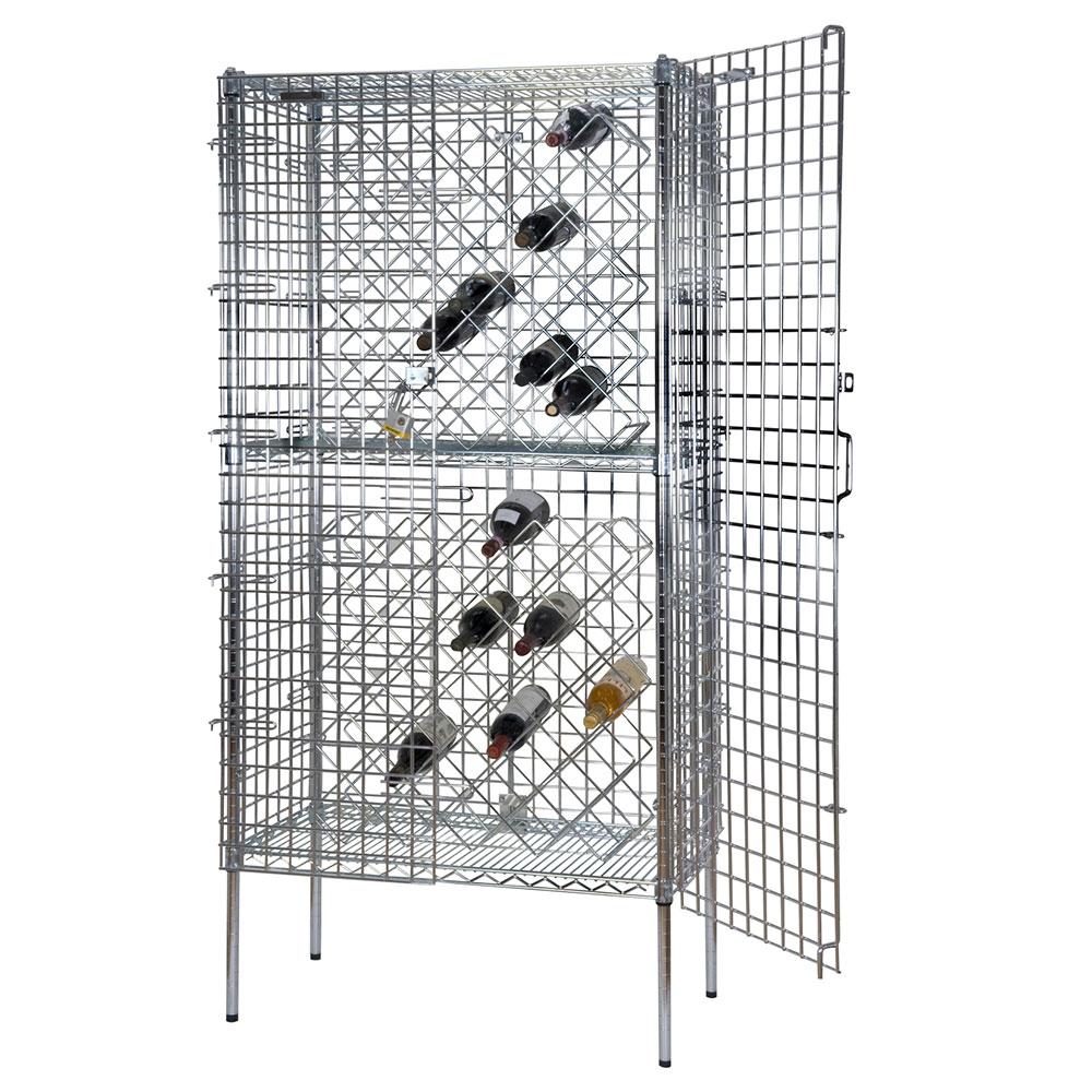 Focus FDSWR2448CH Stationary Wine Rack w/ 8-Shelves, 192-Bottle, Chromate