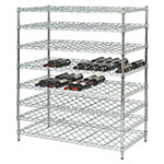 Focus FDWSK4874CH Double Wine Shelf Kit w/ 48-in Shelves, 216-Bottle, Chromate