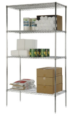 Focus FF1830SS Flat Stainless Solid Shelf Raised Edges 18 X 30 in Restaurant Supply