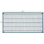 Focus FF1460G Green Epoxy Coated Shelving, 14 in D x 60 in  W