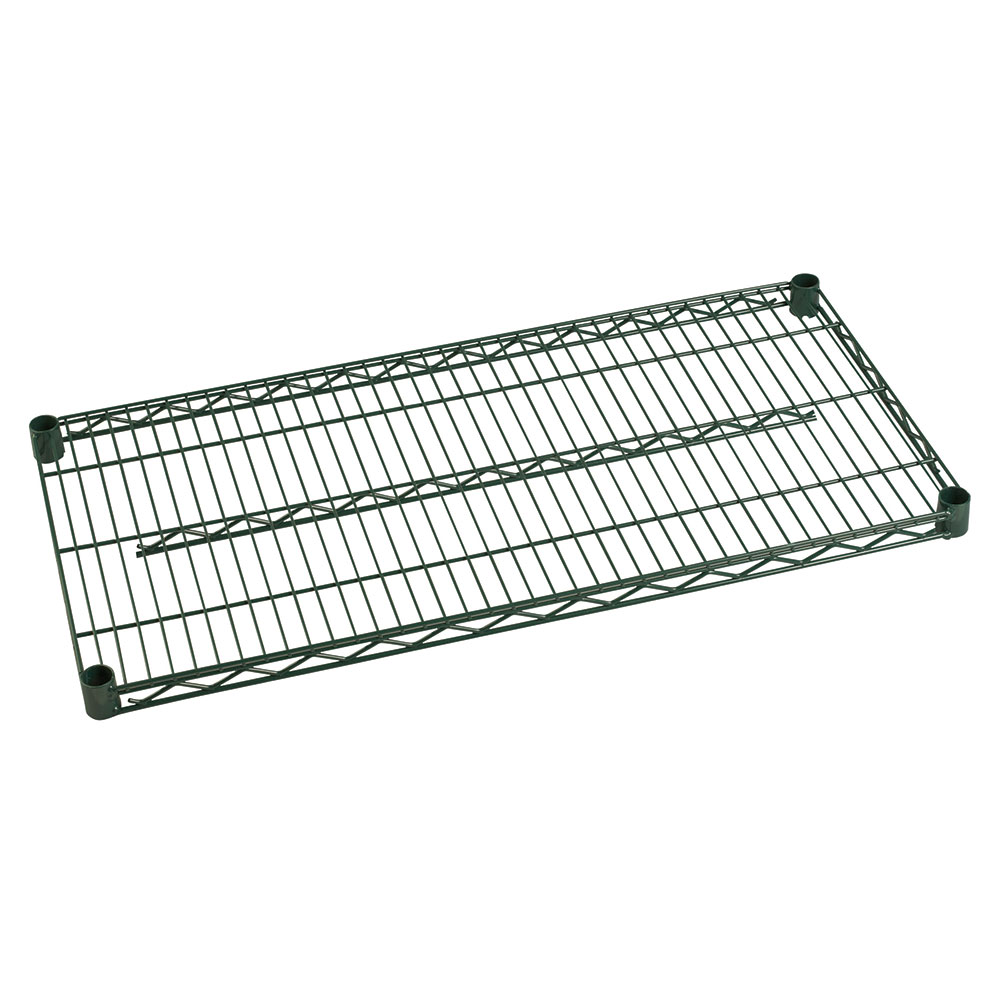 Focus Foodservice FF2454G Green Epoxy Coated Shelving 24 in D x 54 in W Restaurant Supply