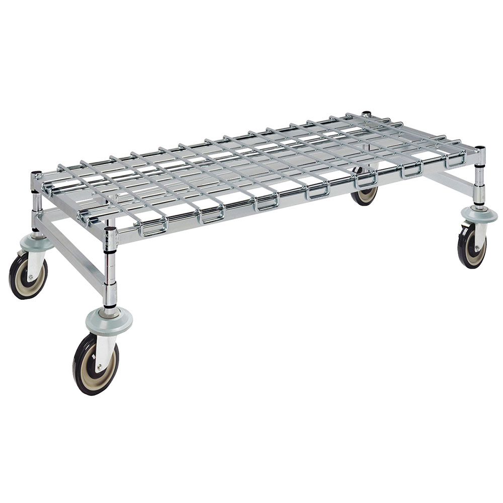 Focus FFMDR2448CH Chromate Mobile Dunnage Rack, (4) 5 in Casters, 24 x 48 x 13-1/2 in