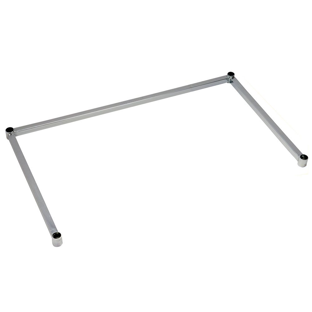 Focus Foodservice FFSF2436CH Frame 3 Sided 24 in D x 36 in L Chromate Restaurant Supply