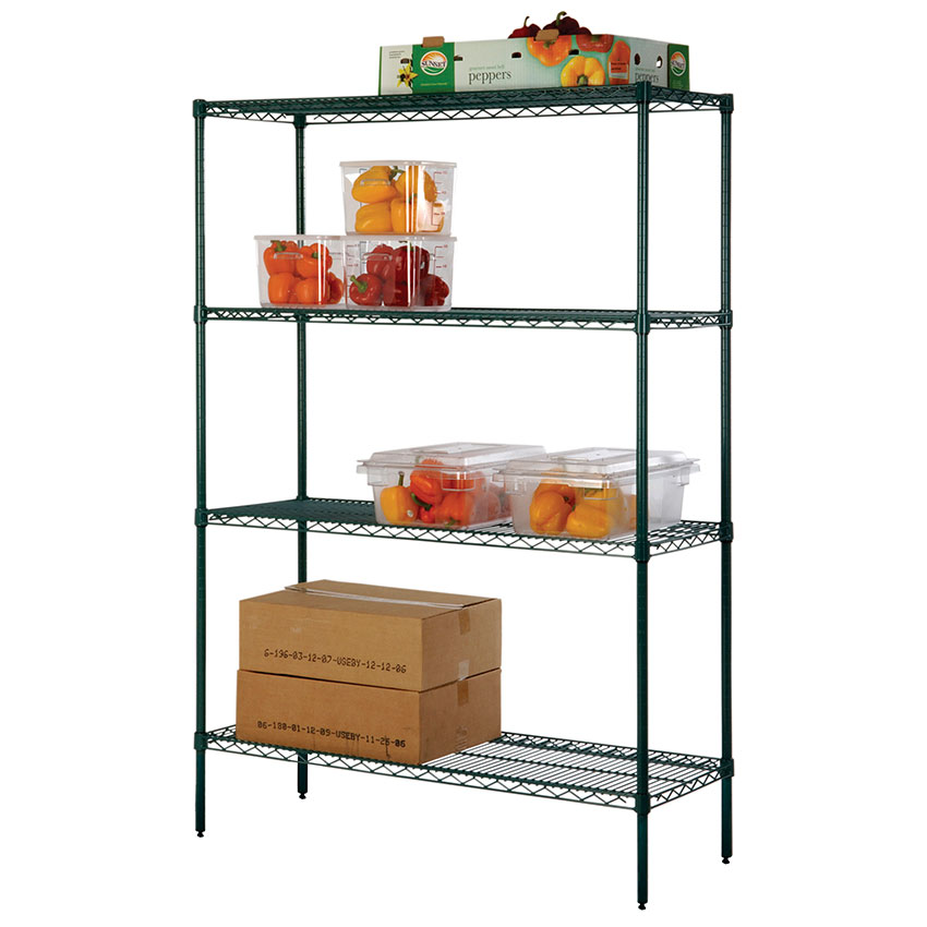 Focus FK243674GN Shelving Kit, (4) 24 x 36 in Shelves, (4) 74