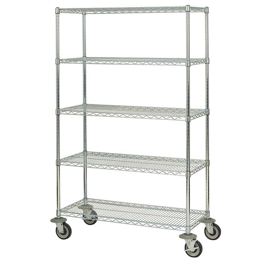 Focus FMK2136695CH Utility Cart w/ 5-Shelves & 1,200-lb Capacity, 21 x 36 x 69-in, Chromate