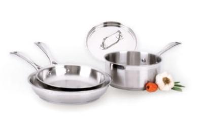 Focus EL-004 Elegant Cookware Set Stainless 8 in Fry Pan Restaurant Supply
