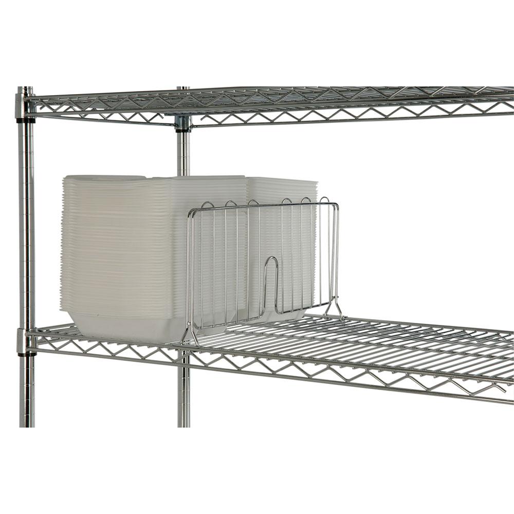 Focus FSD24C Shelf Divider, Chrome, 24 in W x 8 in H