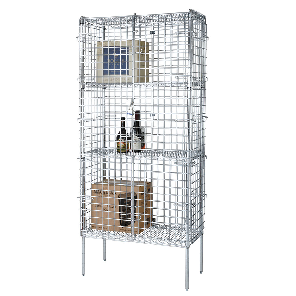 Focus FSSEC1836 36-in Chrome Security Cage Kit, 18 in Deep, 74-in H