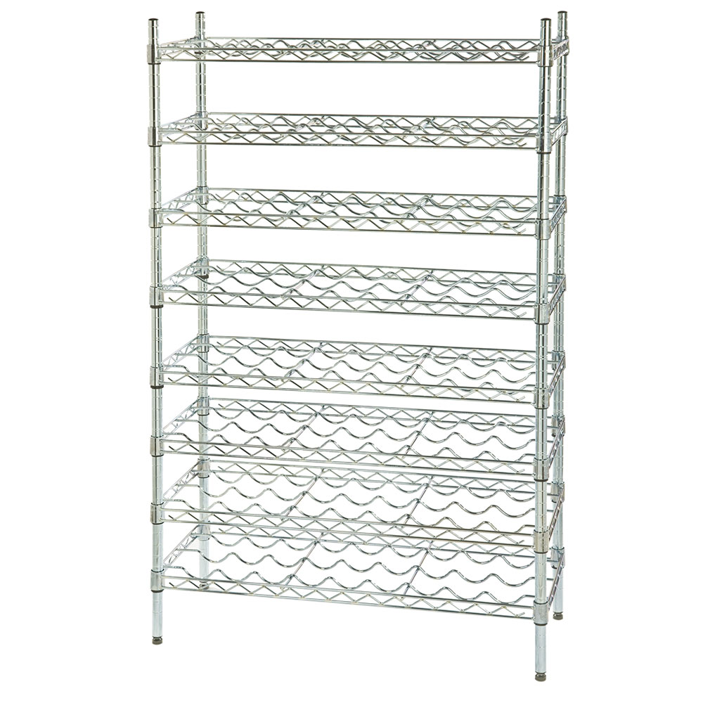 Focus FWSK4854CH Chromate Wine Shelving Rack, Holds 96-Bottles
