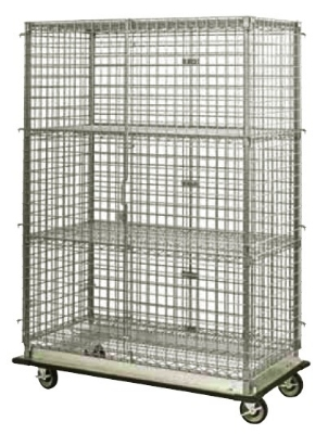 Focus FHDMSEC24364 Mobile Security Cage w/ 63-in Staked Posts, (4) 24 x 36-in, NSF