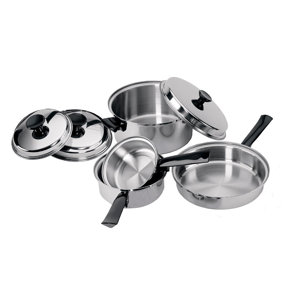 Focus K0351 7 Piece Focus Tri-Ply Stainless Steel Cookware Set