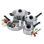 Focus KPW9207 7 Piece Focus Stainless Steel Cookware Set w/Glass Covers
