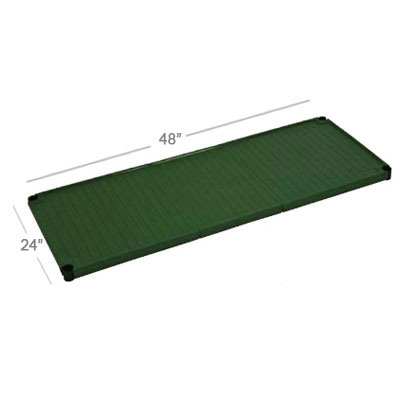 Focus FPS2130SOGN SaniGard Epoxy Coated Solid Shelf, 21 x 30-in, Green