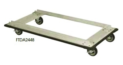 Focus FTDA2460 Truck Dolly w/ Casters For 24 x 60-in Shelf Sizes, Aluminum, NSF