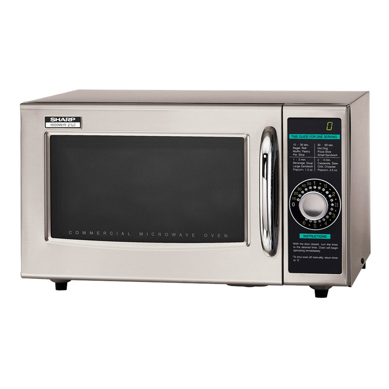 Sharp R21LCF 1000w Commercial Microwave with Dial Control, 120/1v