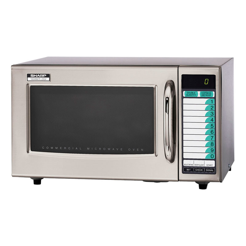 Sharp R21LVF 1000w Commercial Microwave with Touch Pad, 120/1v