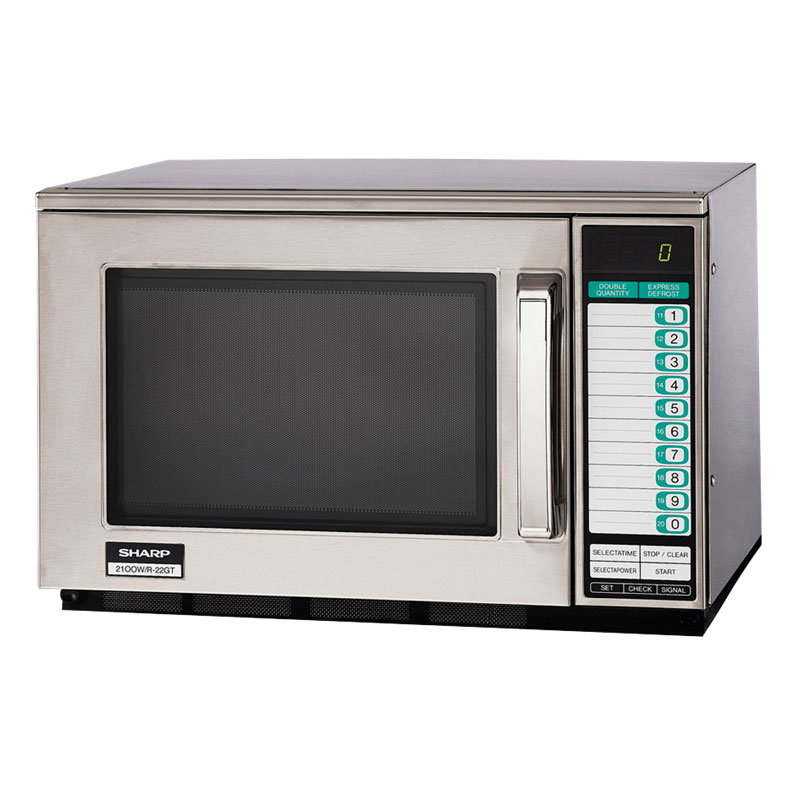 Sharp R22GTF 1200w Commercial Microwave with Touch Pad, 120/1v