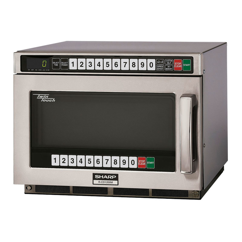 Sharp RCD1200M 1200w Commercial Microwave with Touch Pad, 120/1v