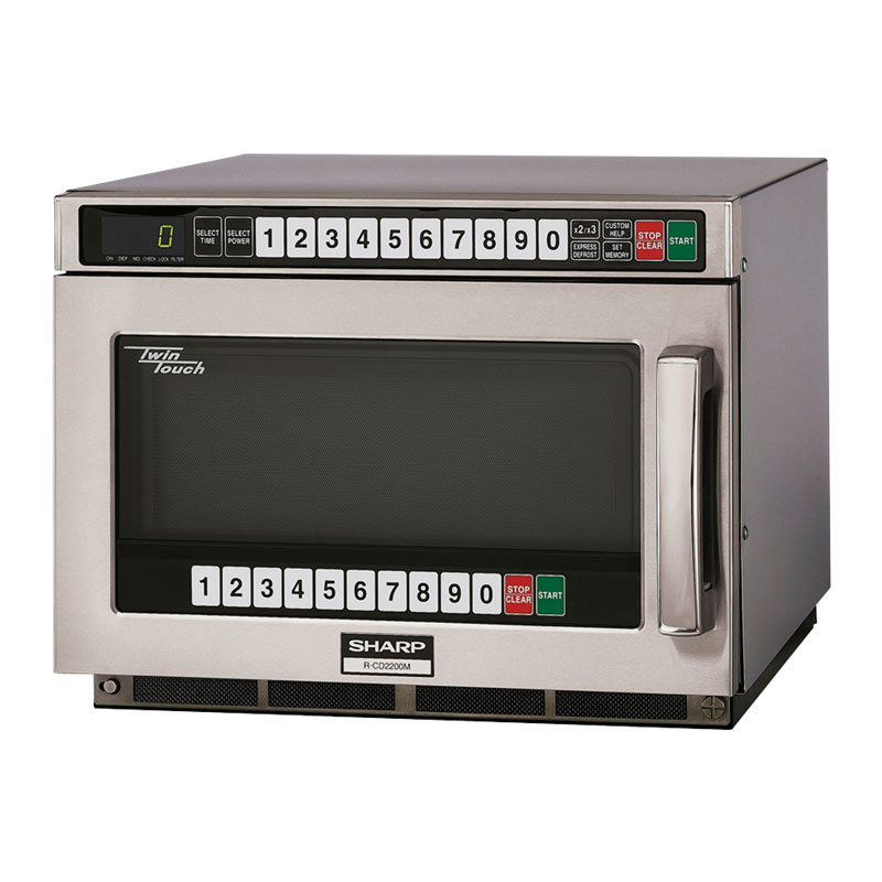 Sharp RCD2200M 2200w Commercial Microwave with Touch Pad, 230-20