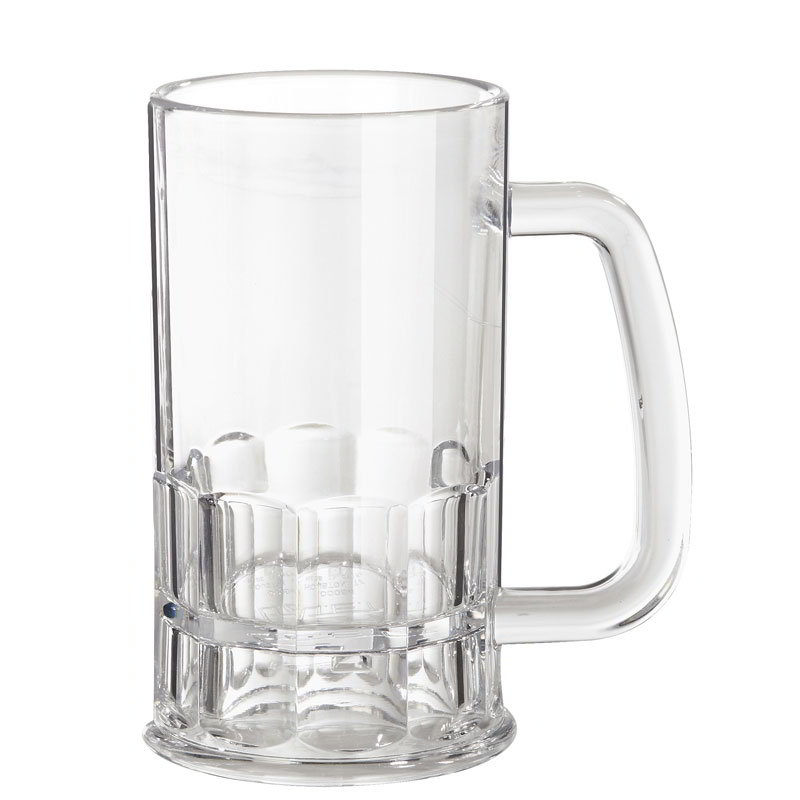GET 00084-1-SAN-CL 12-oz Beer Mug, 5.5-in Tall, Clear SAN