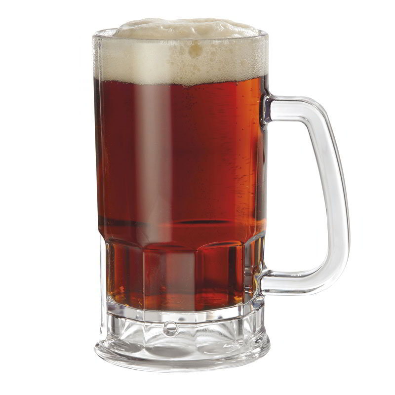 GET 00085-PC-CL 20 oz. Beer Mug, Polycarbonate, Clear