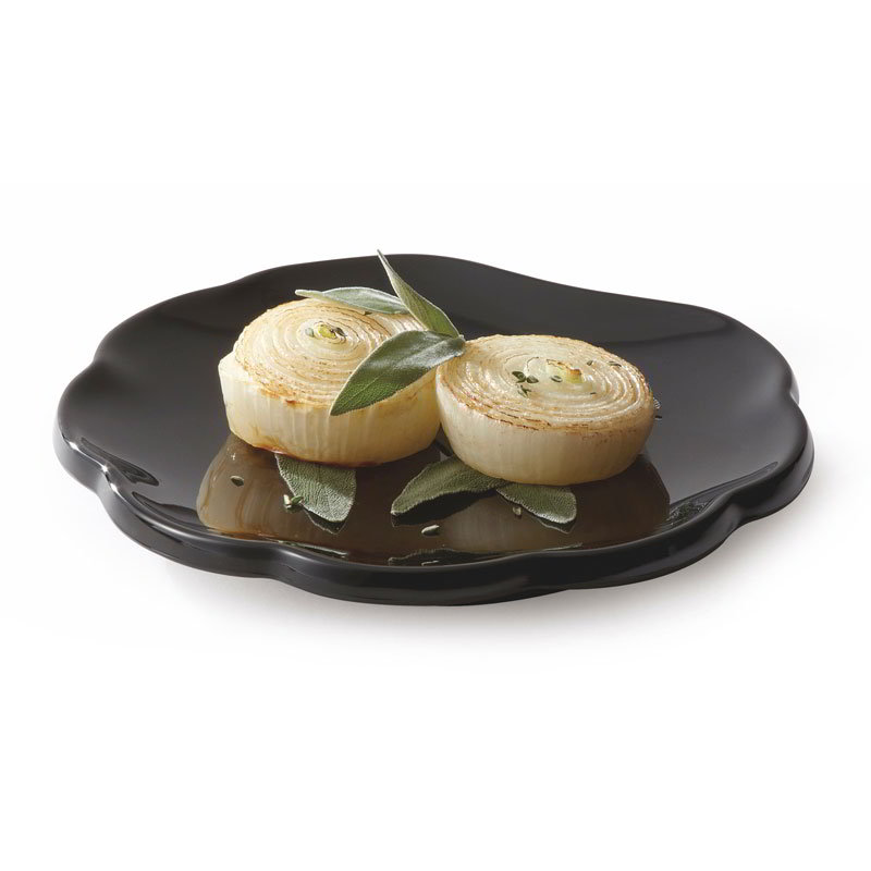 GET 139-BK 8 in Plate, Scallop, M