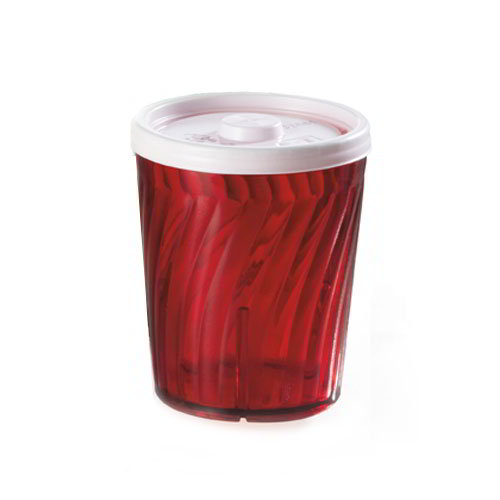 GET 2206-1-R 6 oz Healthcare Tumbler, 3-1/4 in Tall, Red