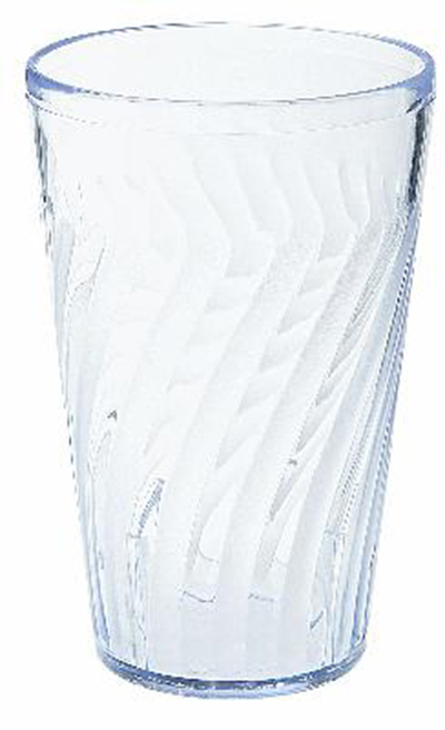 G.E.T 2212-CL 12 oz Beverage Tumbler Textured Tahiti Clear Restaurant Supply