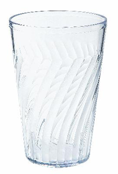 G.E.T 2220-CL 20 oz Beverage Tumbler Textured Tahiti Clear Restaurant Supply