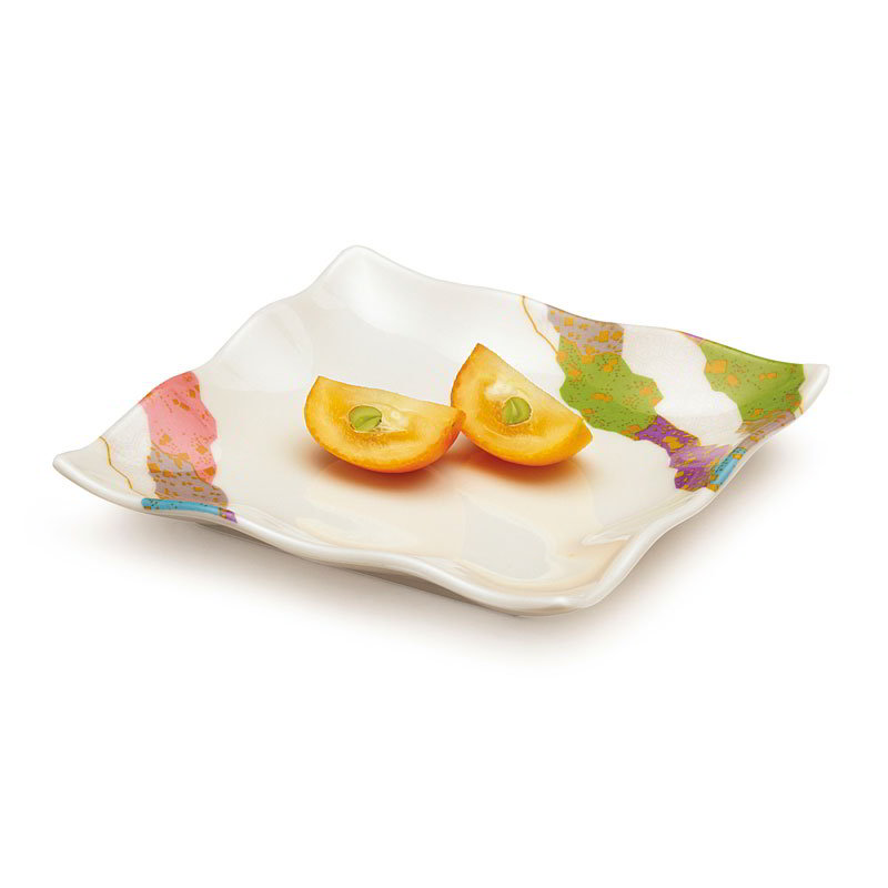 GET 252-10-CO 4 in x 4 in Dish, Melamine, Japanese Contemporary