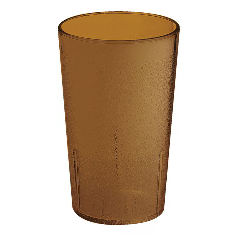 G.E.T 6608-6-A 8 oz Tumbler Textured Stackable Amber Restaurant Supply