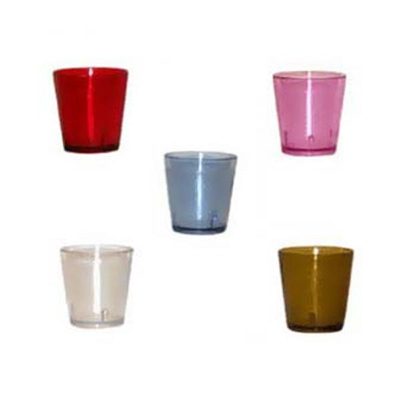 G.E.T 6609-2-R 9 oz Tumbler Textured Stackable Ruby Restaurant Supply
