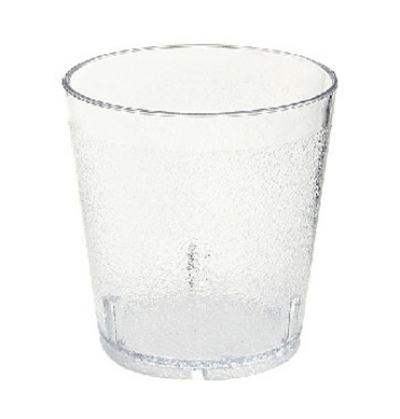GET Enterprises 6610-2-CL Juice Tumbler 10 oz Textured 3-3/8 in Tall SAN Clear Restaurant Supply