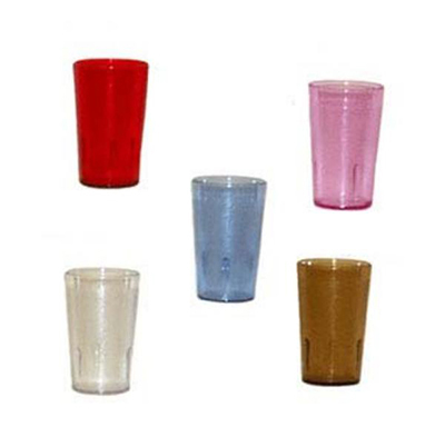 G.E.T 6695-2-CL 9-1/2 oz Tumbler Textured Stackable Clear Restaurant Supply