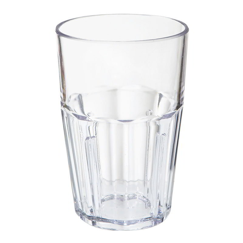 GET 9910-CL 10 oz Double Rock Tumbler, Bahama, Clear